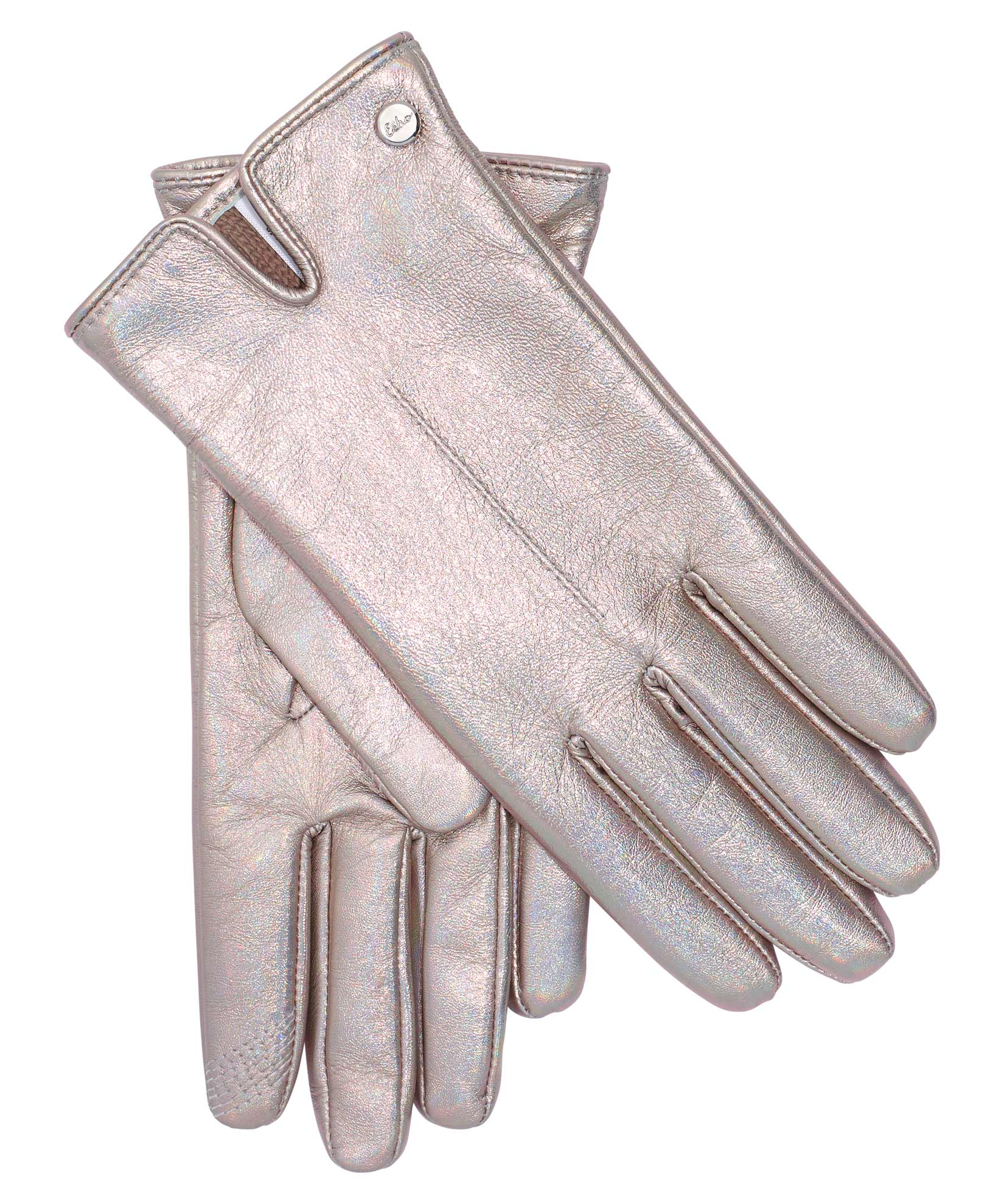 Silver/Multi - Iridescent Leather Touch Glove