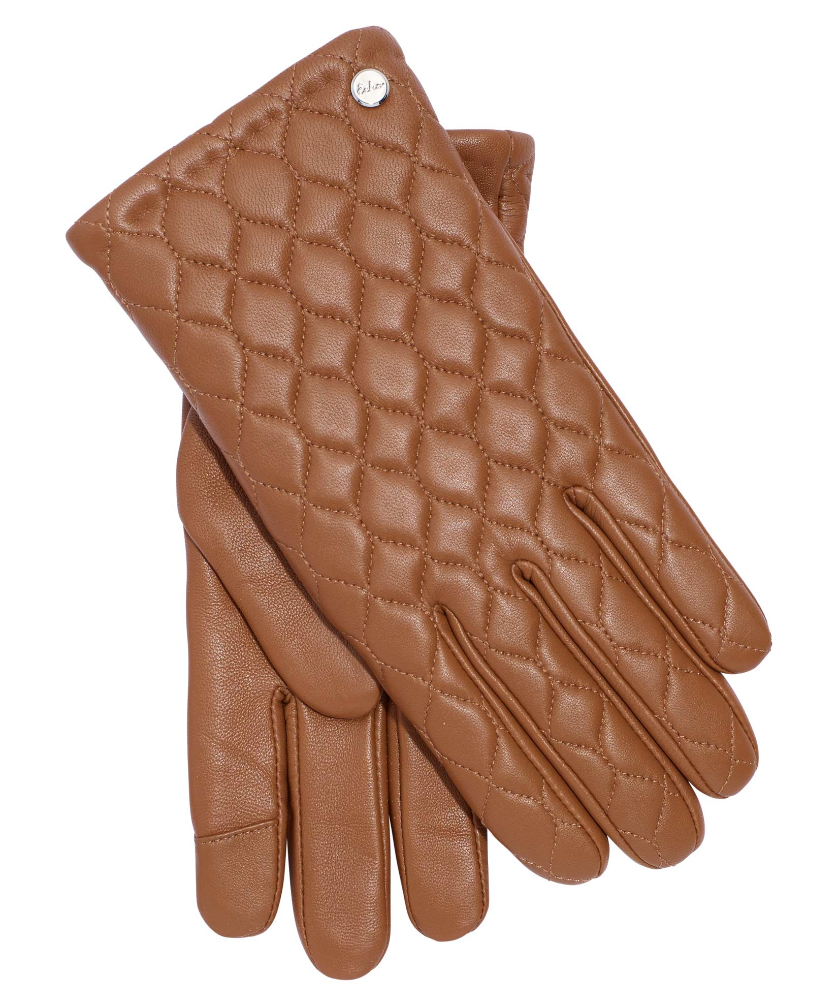 Saddle Brown - Quilted Leather Touch Glove