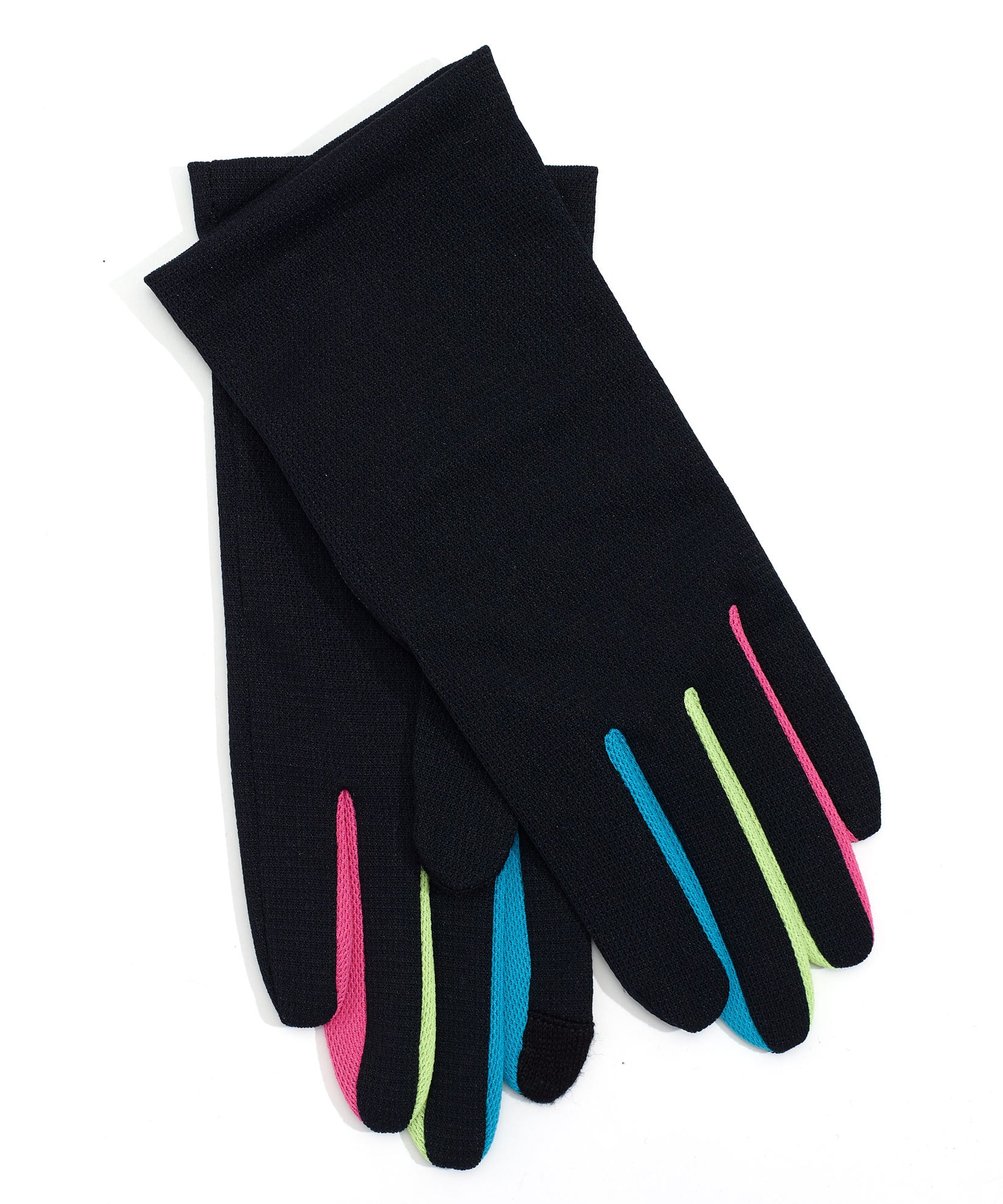 Black Multi - Washable Colorblock Errand Glove with Echo Touch®