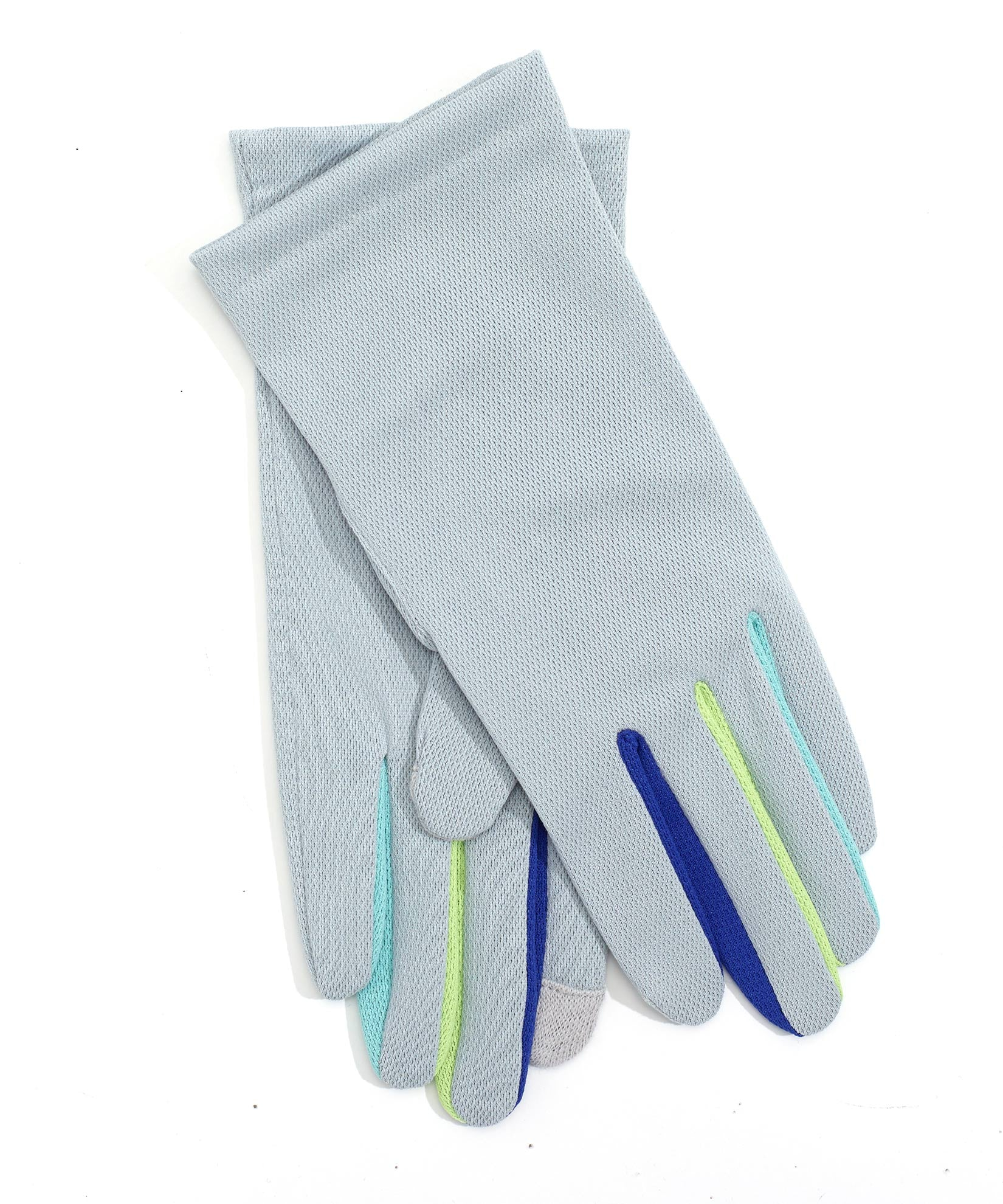 Grey - Washable Colorblock Errand Glove with Echo Touch®