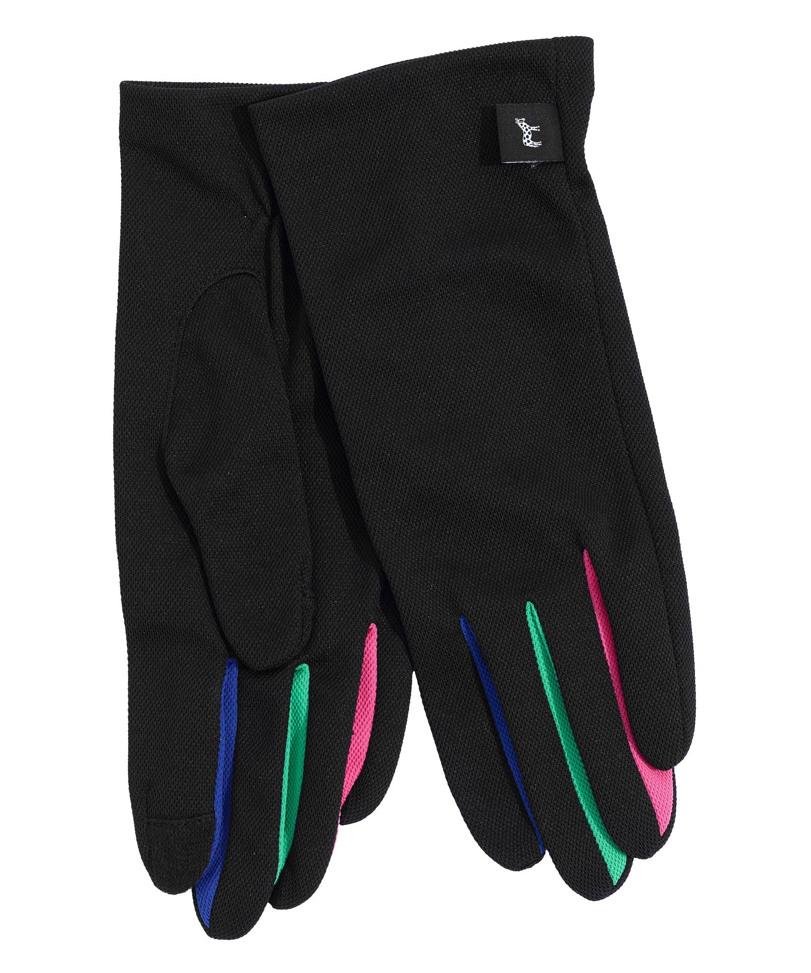Black Multi - UPF50 Colorblock Washable Errand Glove with Echo Touch®
