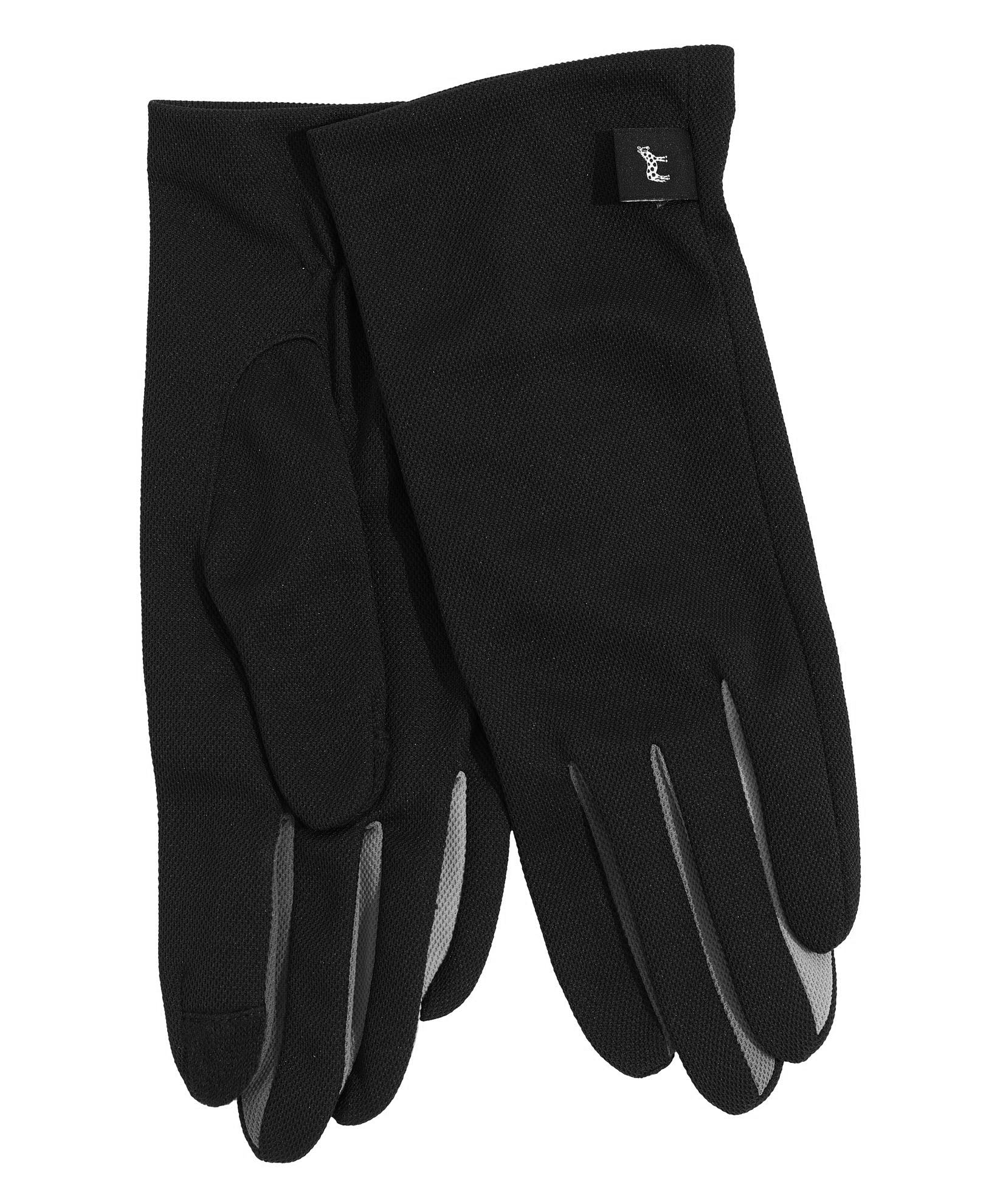 Black - UPF50 Colorblock Washable Errand Glove with Echo Touch®