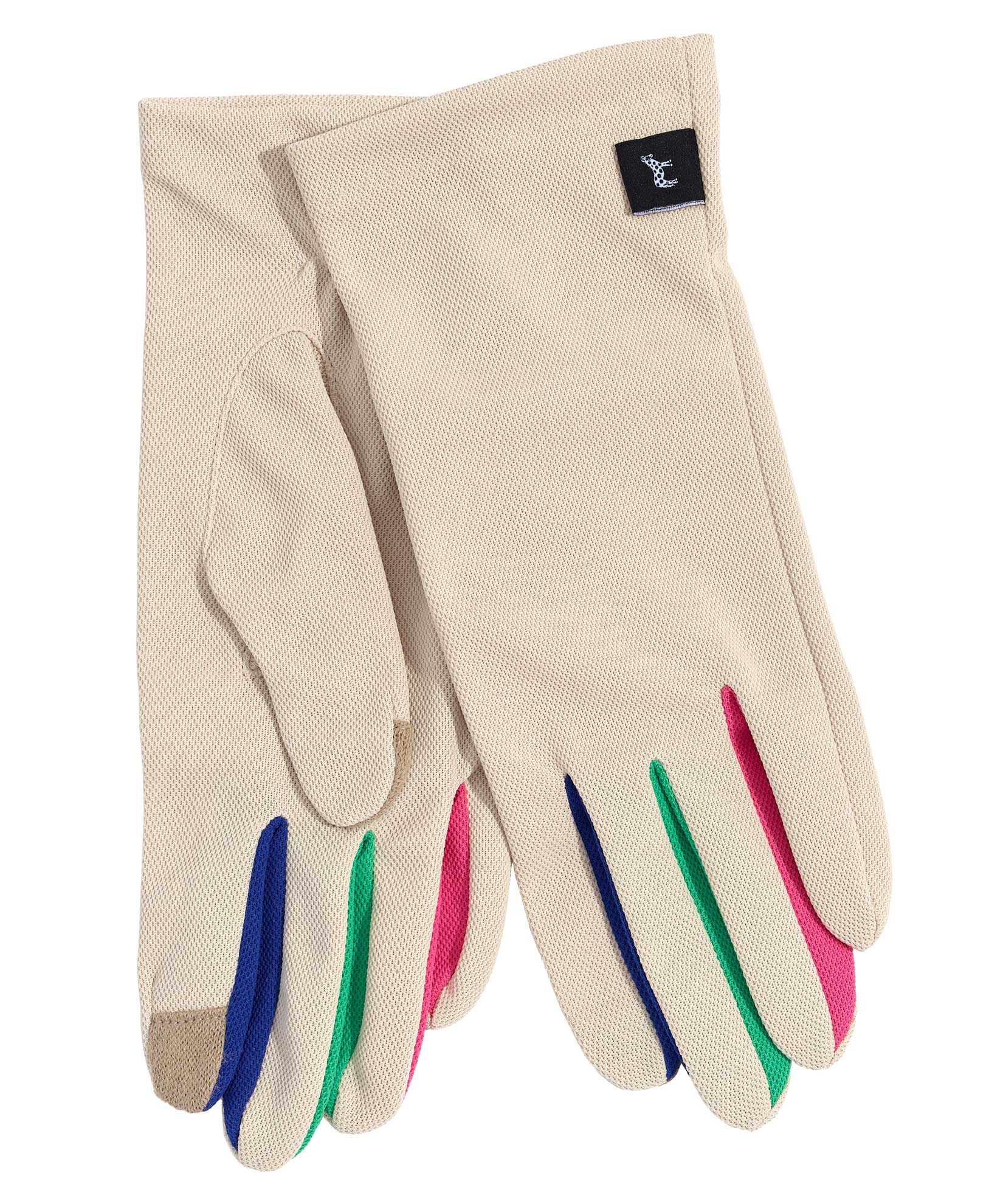 Tan - UPF50 Colorblock Washable Errand Glove with Echo Touch®