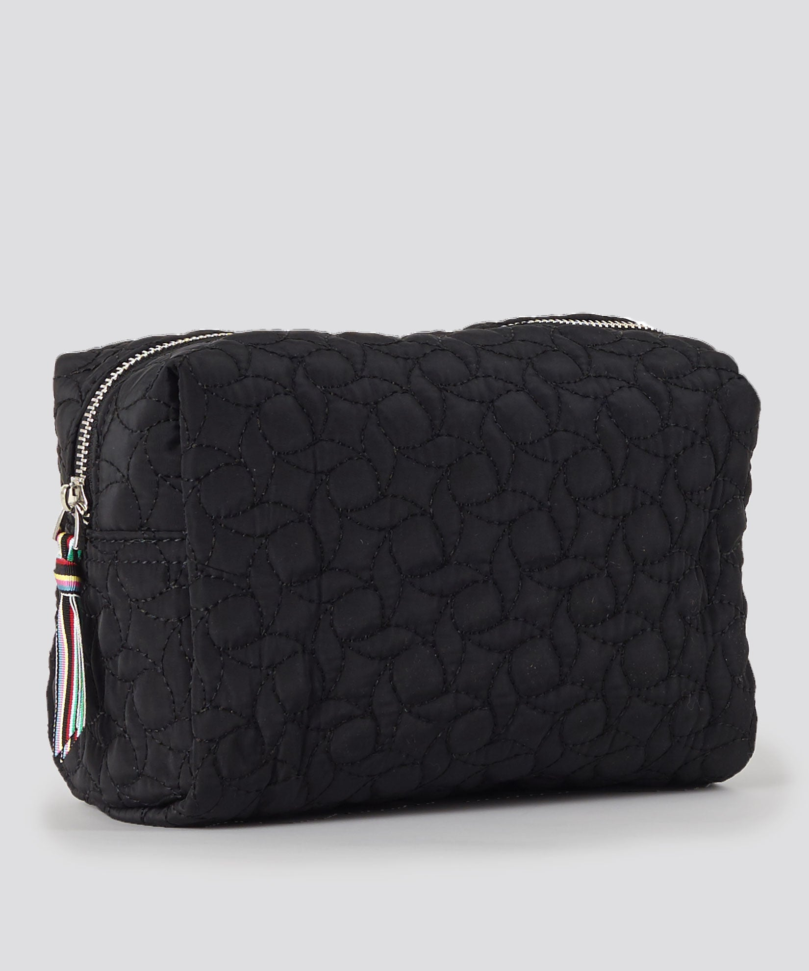 Black - Quilted Corsica Cosmetic