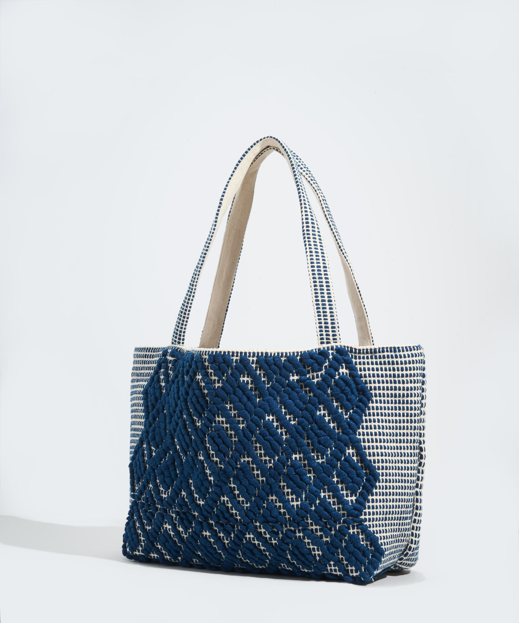 Navy - Diamond Motif Bag