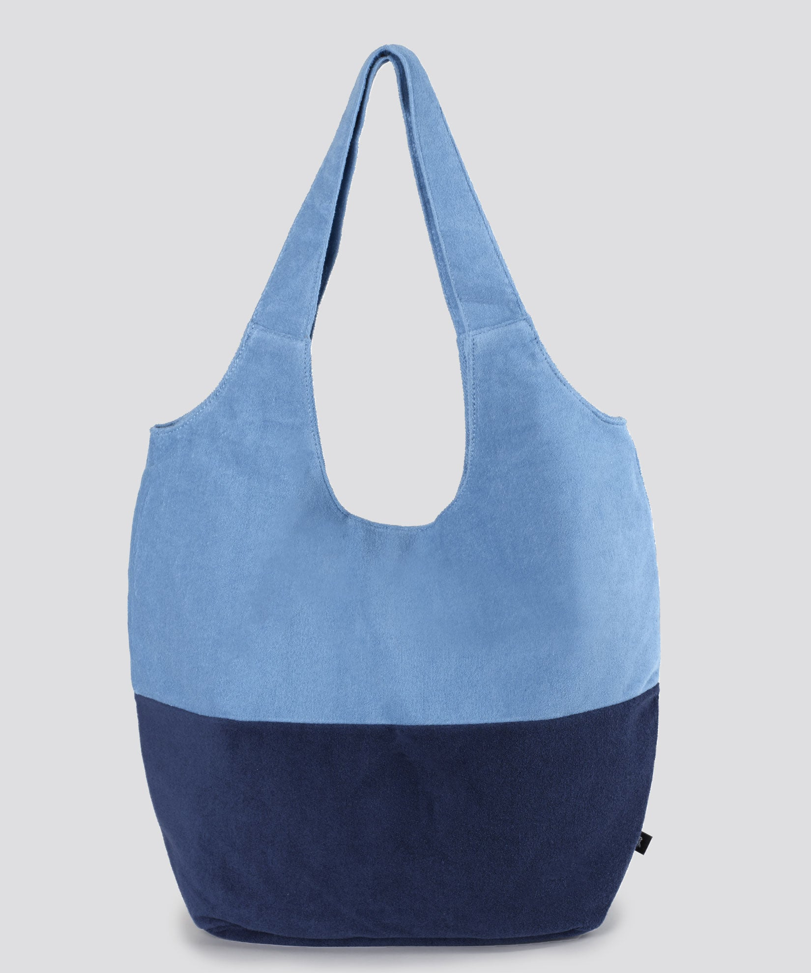Navy - Colorblocked Terry Slouchy Hobo