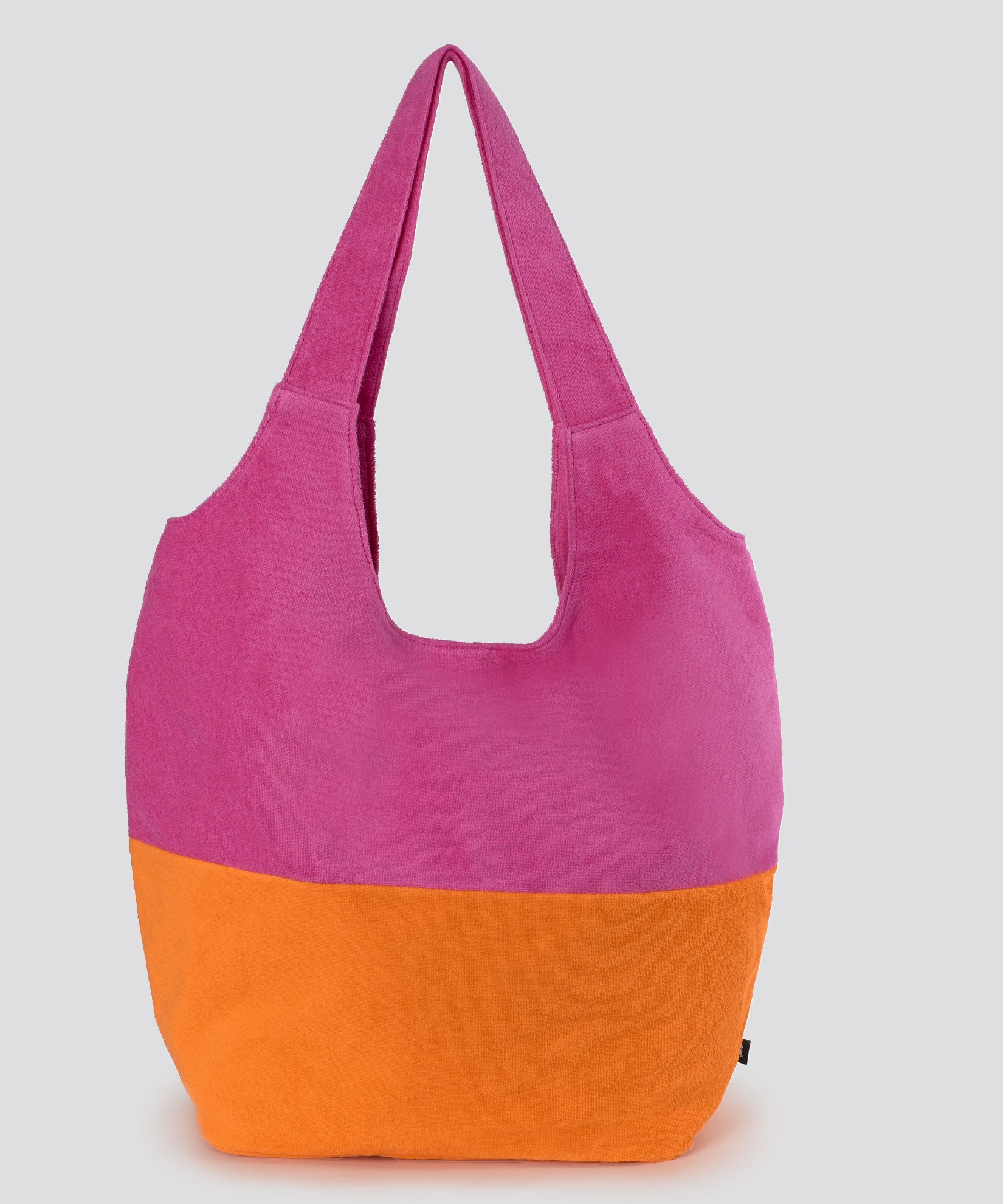 Orange - Colorblocked Terry Slouchy Hobo