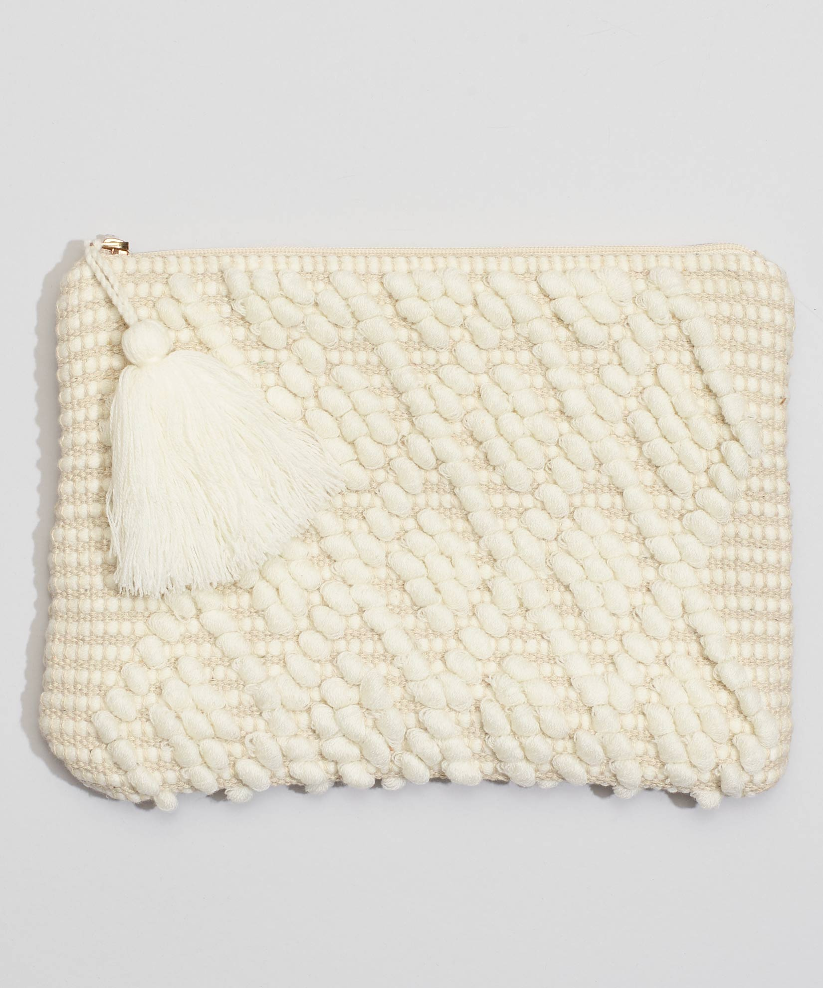White - Diamond Motif Clutch