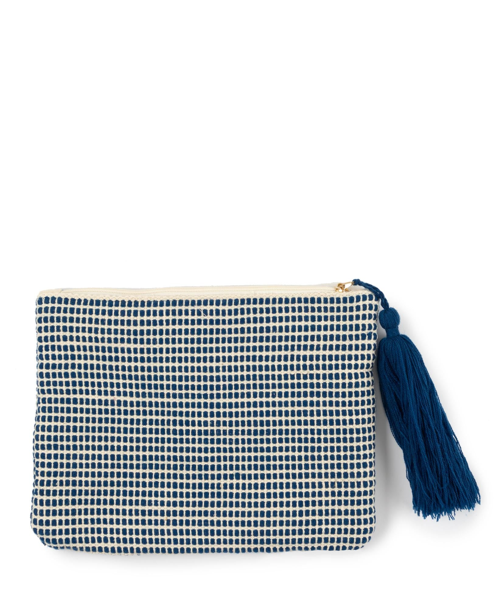 Navy - Diamond Motif Clutch