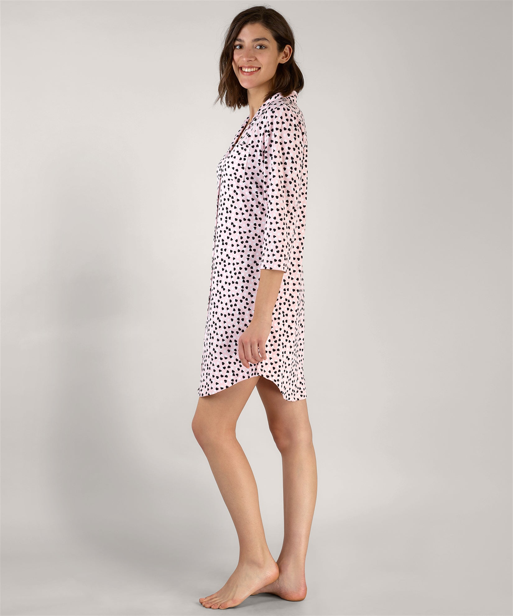 Warm Blush - Heart Confetti Nightshirt