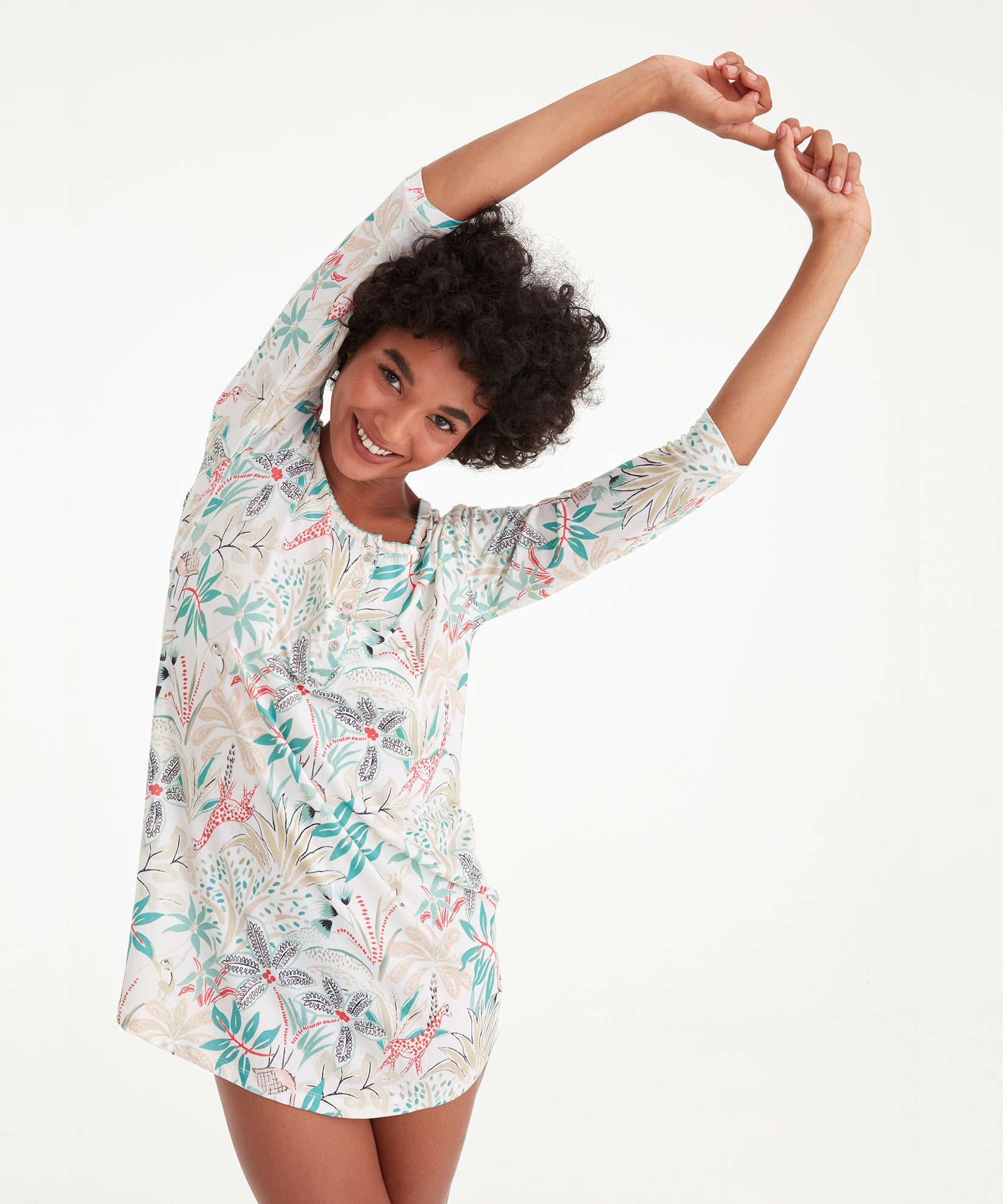 Aqua - Jungle Book Henley Sleepshirt