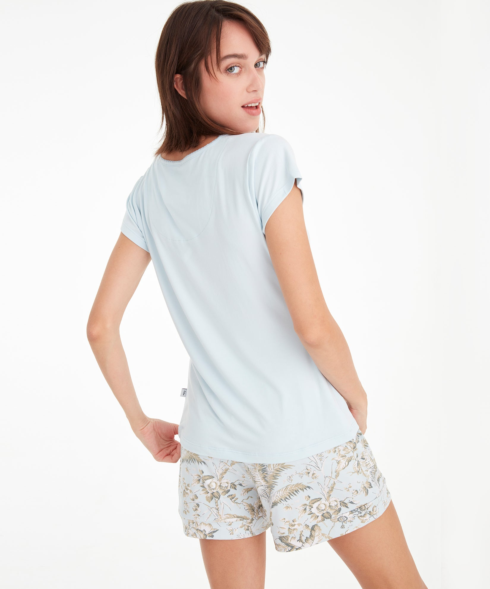 Light Blue - Tropical Toile Short Set