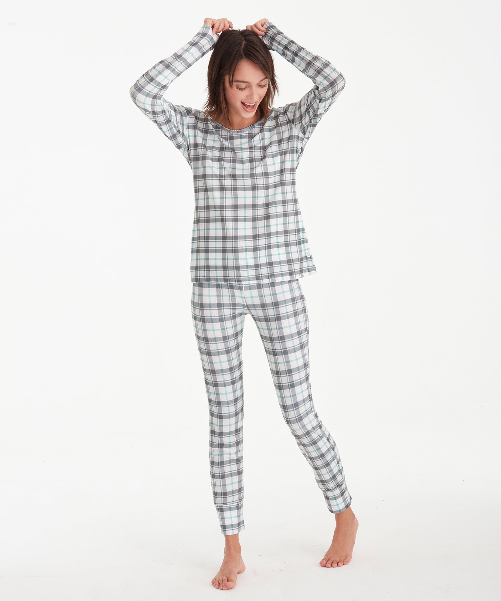 Stowe Plaid - Stowe Plaid L/S Scoop Neck Tee & Legging Set