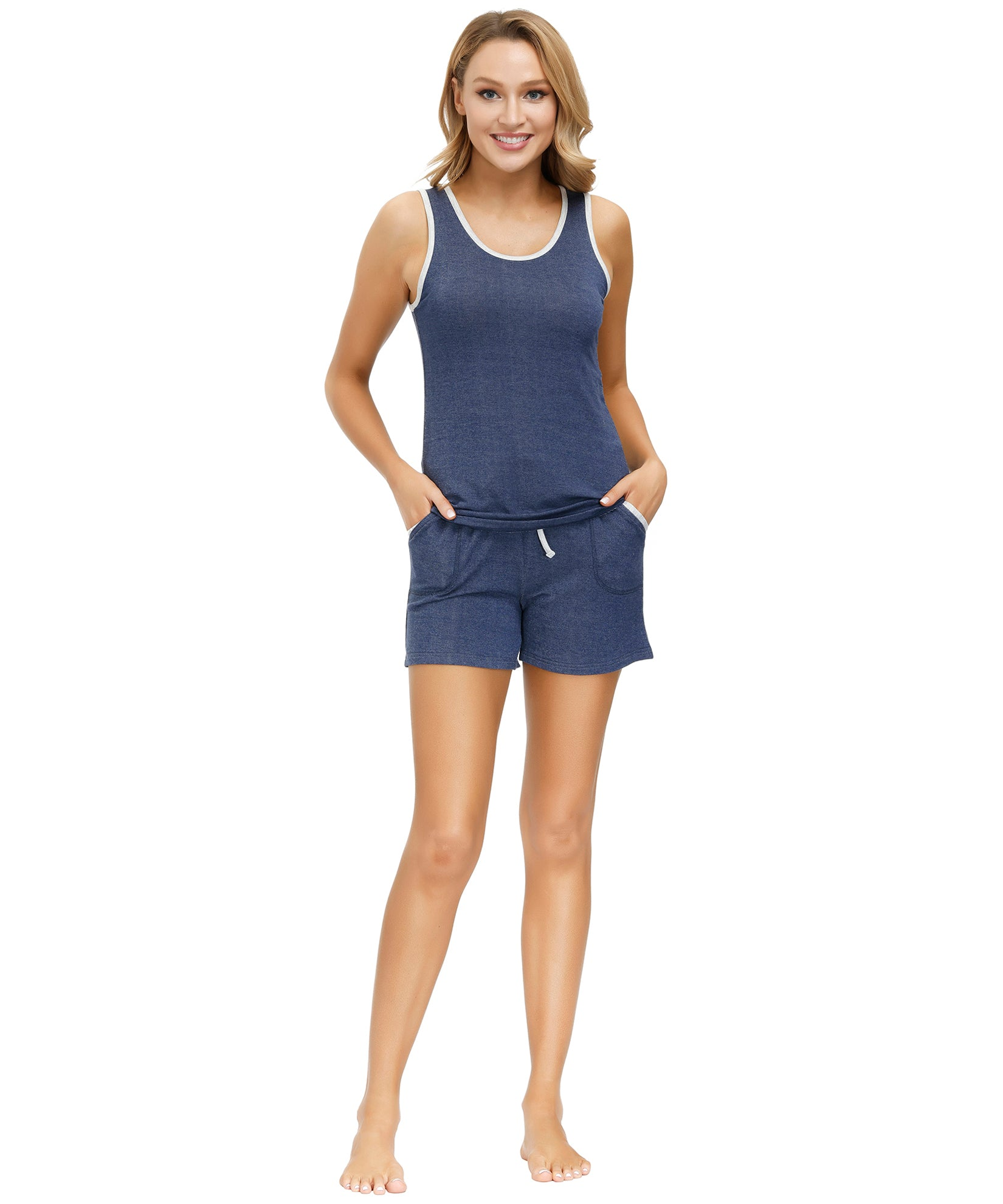 Navy - Navy French Terry Short Set