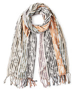 Marshmallow - Fall Leaves Jacquard Wrap