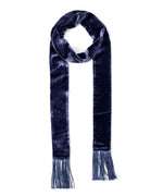 Maritime Navy - Velvet Double-Faced Long And Skinny