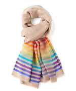 Oatmeal - Rainbow Stripe Wrap
