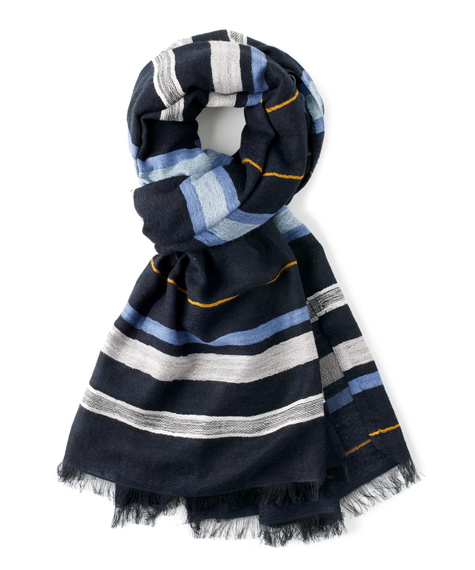 Maritime Navy - Striped Cotton Wrap