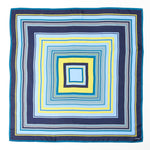 Maritime Navy - Cascading Squares Silk Square