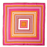 Winterberry - Cascading Squares Silk Square