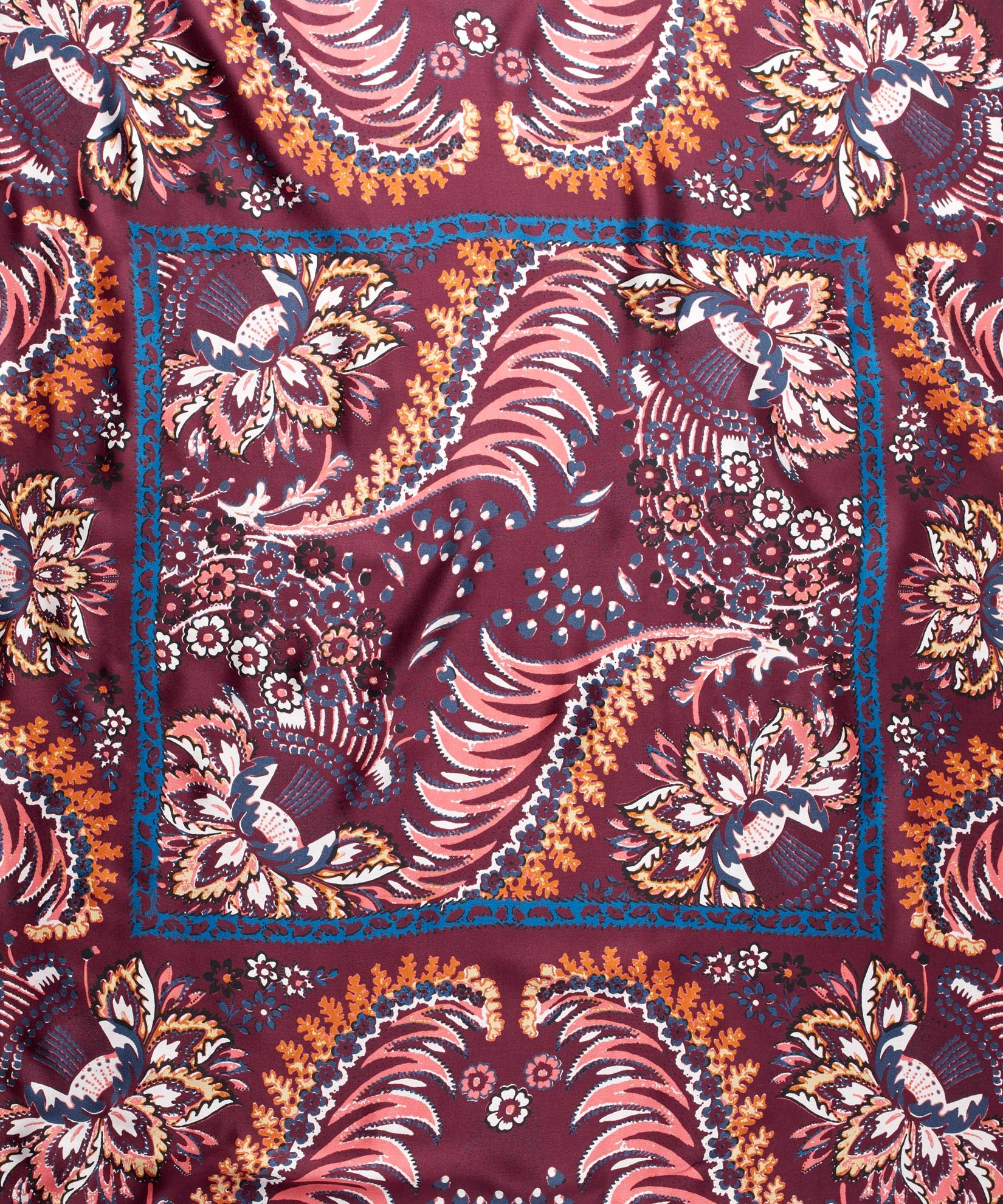 Port - Jacobean Double-Faced Silk Square