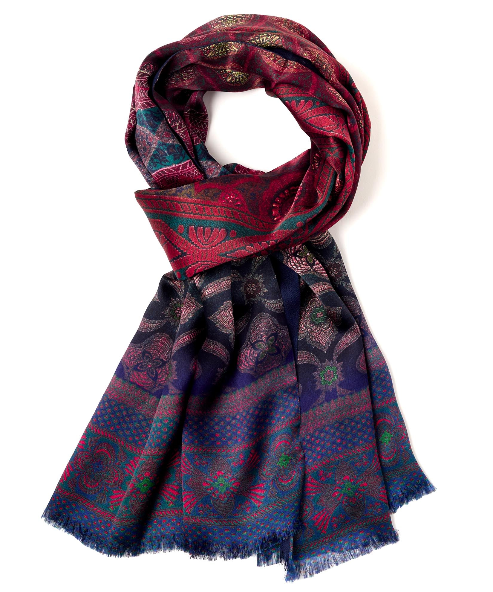 Sunset - Tapestry Double-Faced Silk Wrap