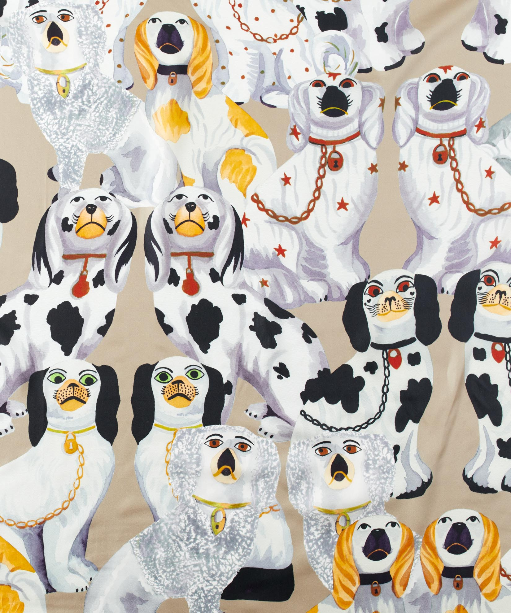 Mink - Staffordshire Dogs Silk Square