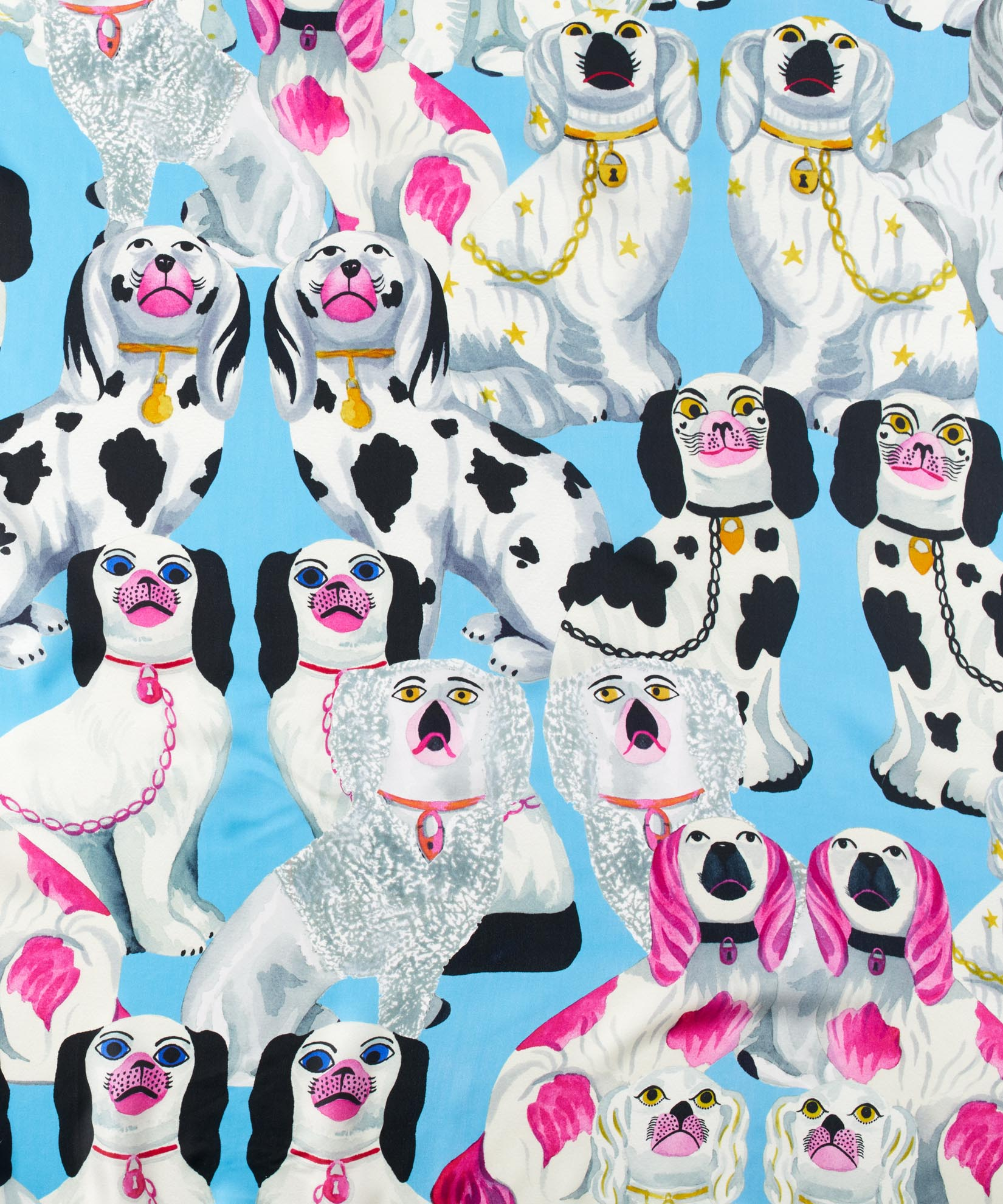 Blue Bell - Staffordshire Dogs Silk Square
