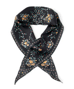 Black - Floral Lace Silk Diamond