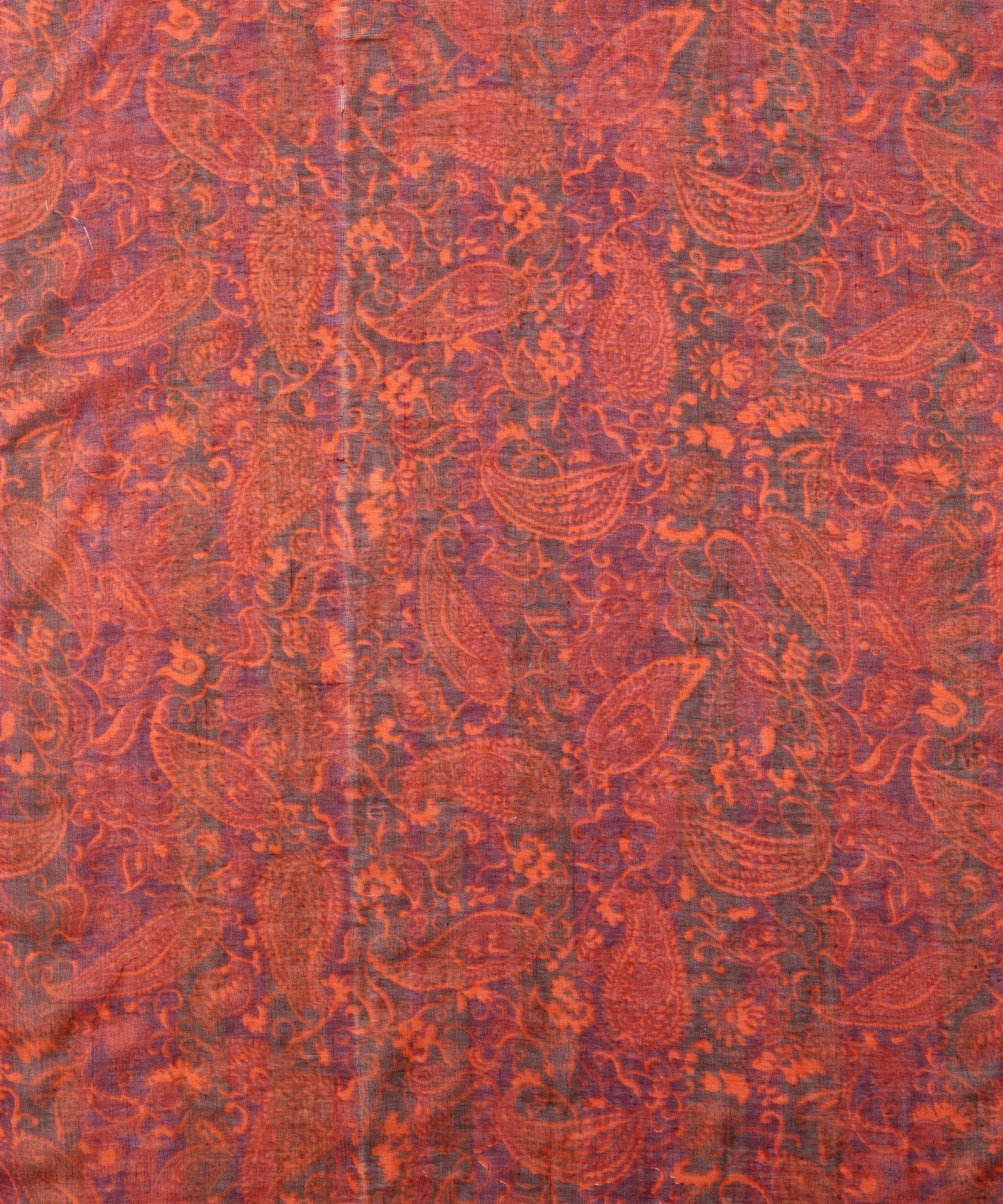 Dark Mulberry - Forest Paisley Oblong
