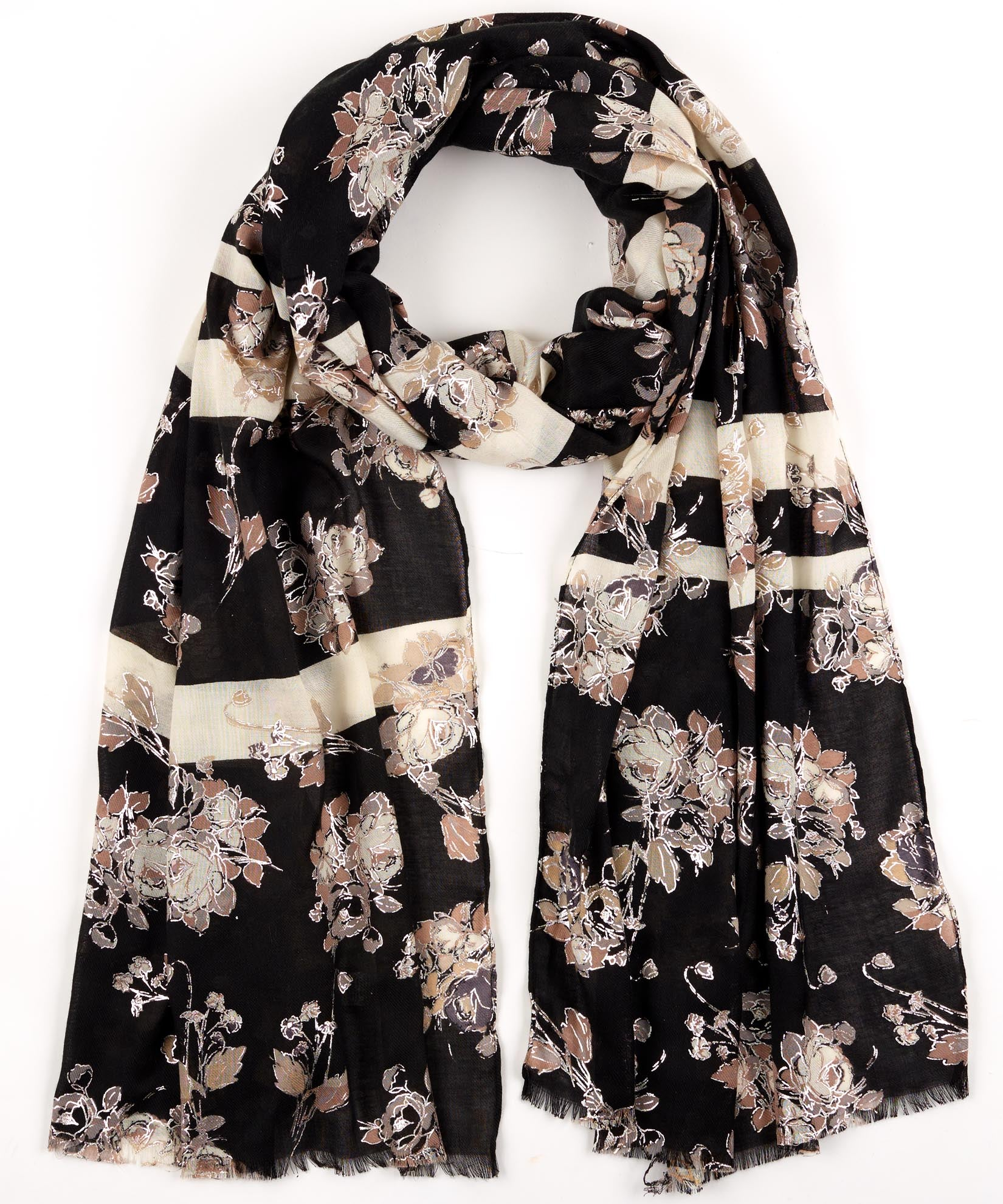 Black - Westminster Floral Oblong