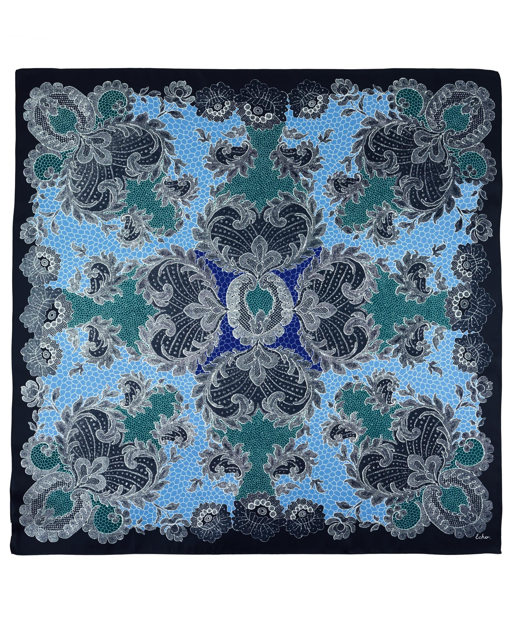 Maritime Navy - Camden Lace Silk Square