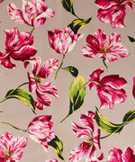 Mink - Buckingham Tulips Silk Square
