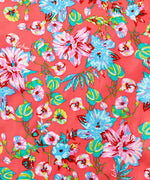 Coral - Adelaide Floral Silk Oblong