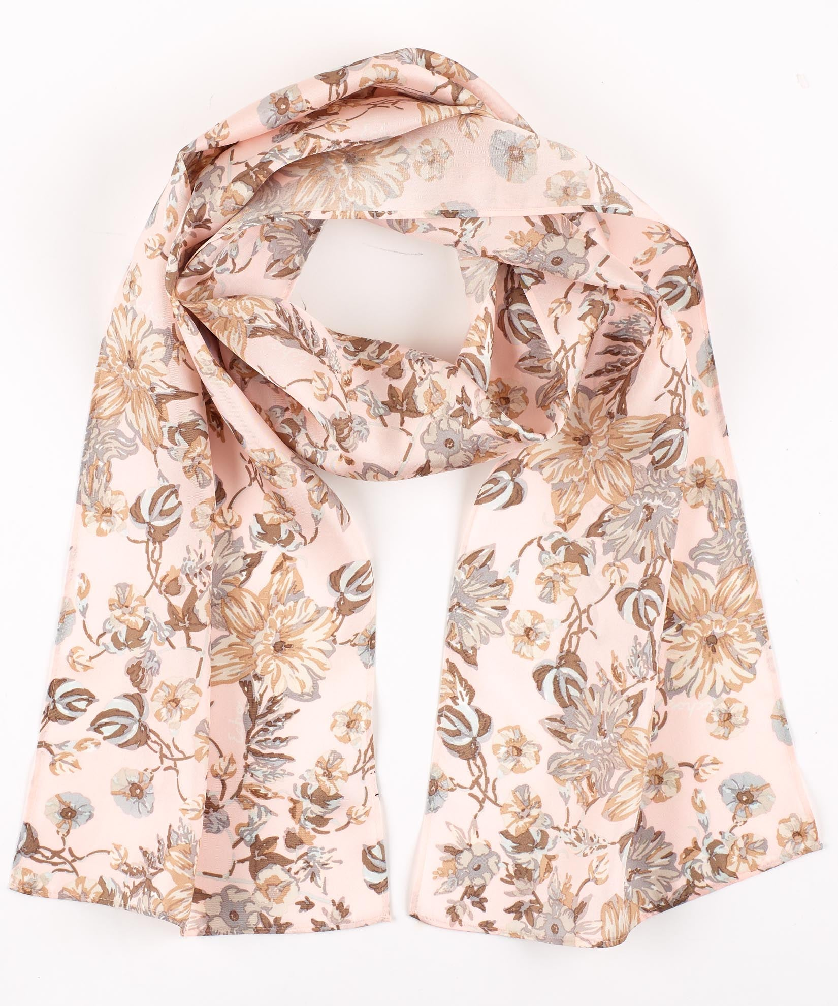 Pearl Pink - Adelaide Floral Silk Oblong