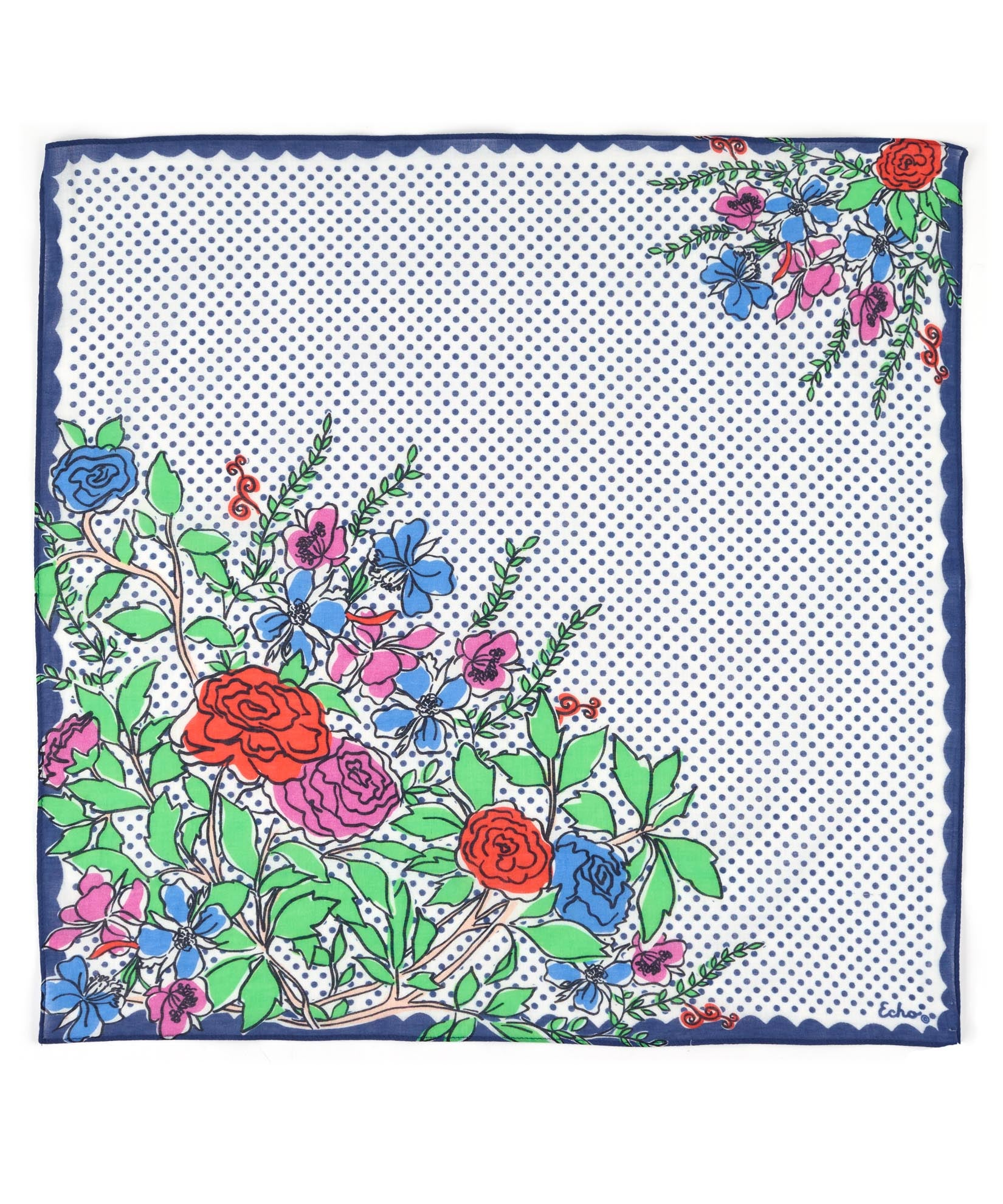 Blue Depths - Coastal Floral Bandana