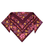Pickled Beet - Floral Silk Bandana
