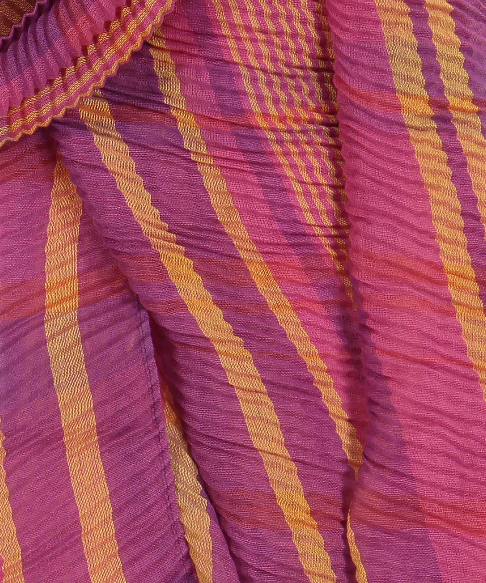 Pickled Beet - Pleated Plaid Wrap