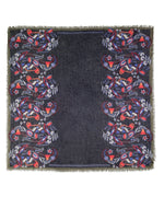 Navy - Floral Paisley Square