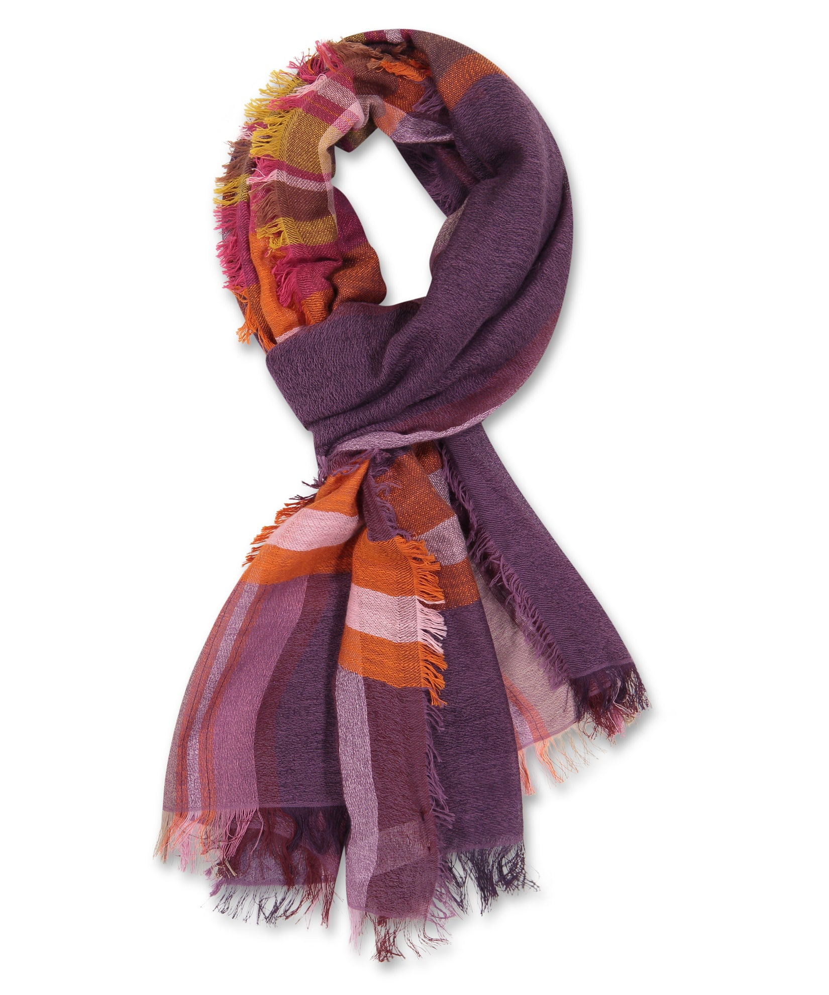 Smoked Lilac - Opposing Plaids Wrap