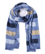 Chambray - Fuzzy Stripe Wrap