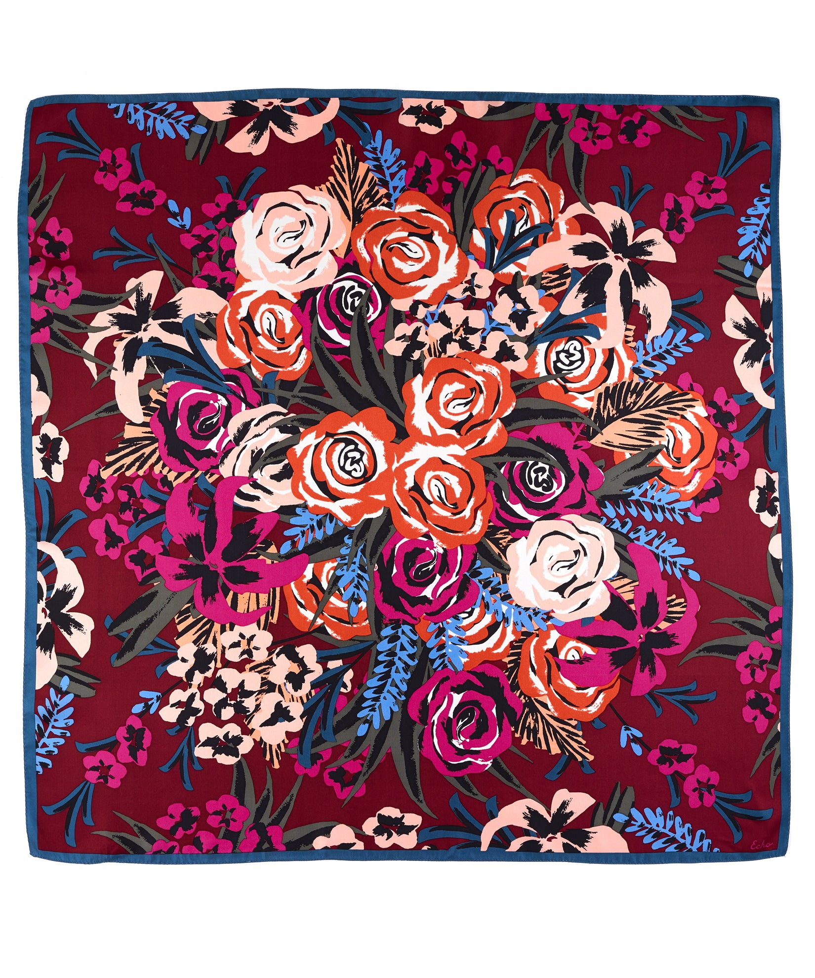 Garnet - Bouquet Silk Square