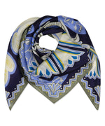 Navy - Tiger Lily Silk Square