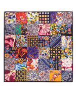 Multi - Fall Patchwork Silk Square