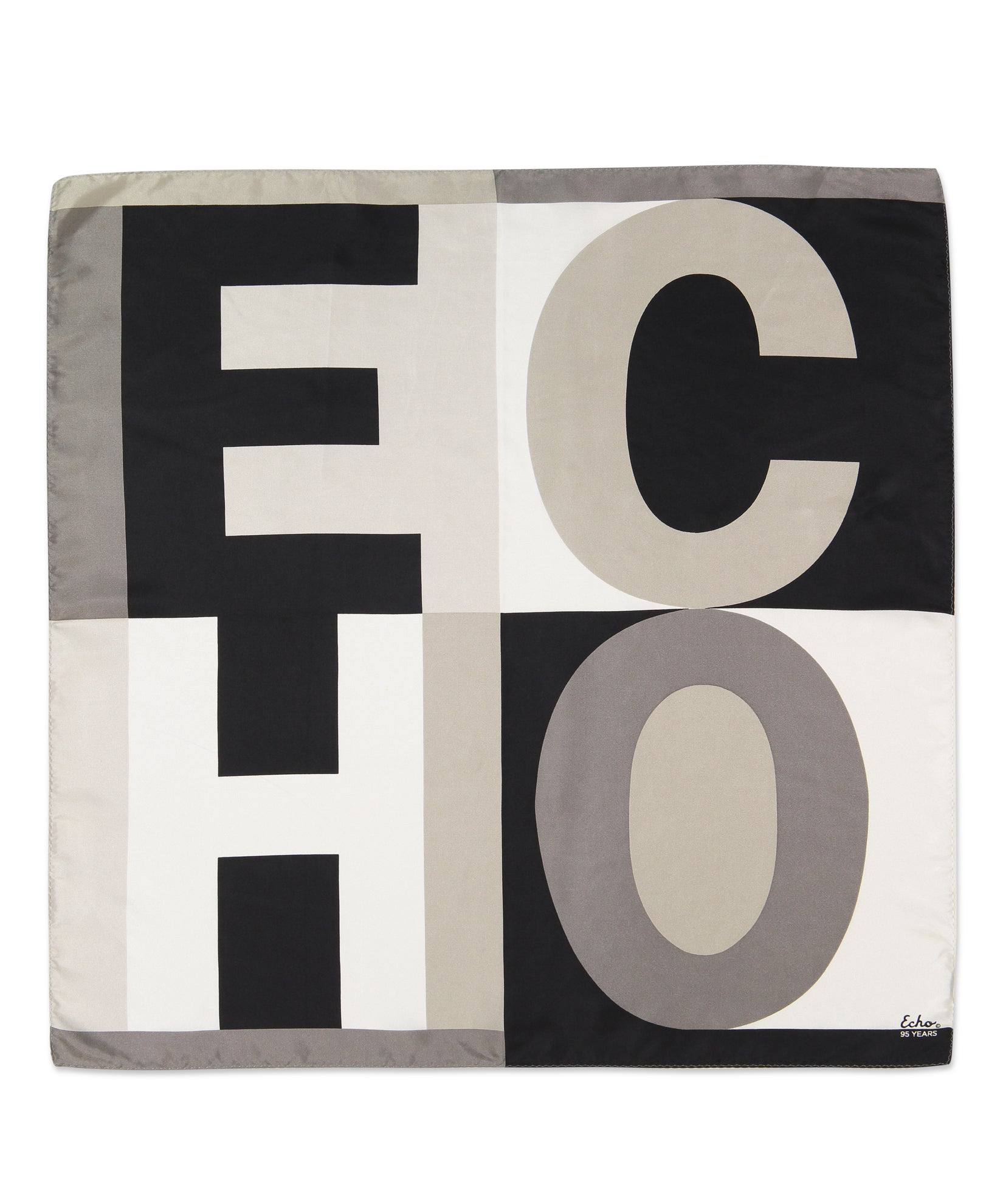 Black - Echo Echo Silk Square