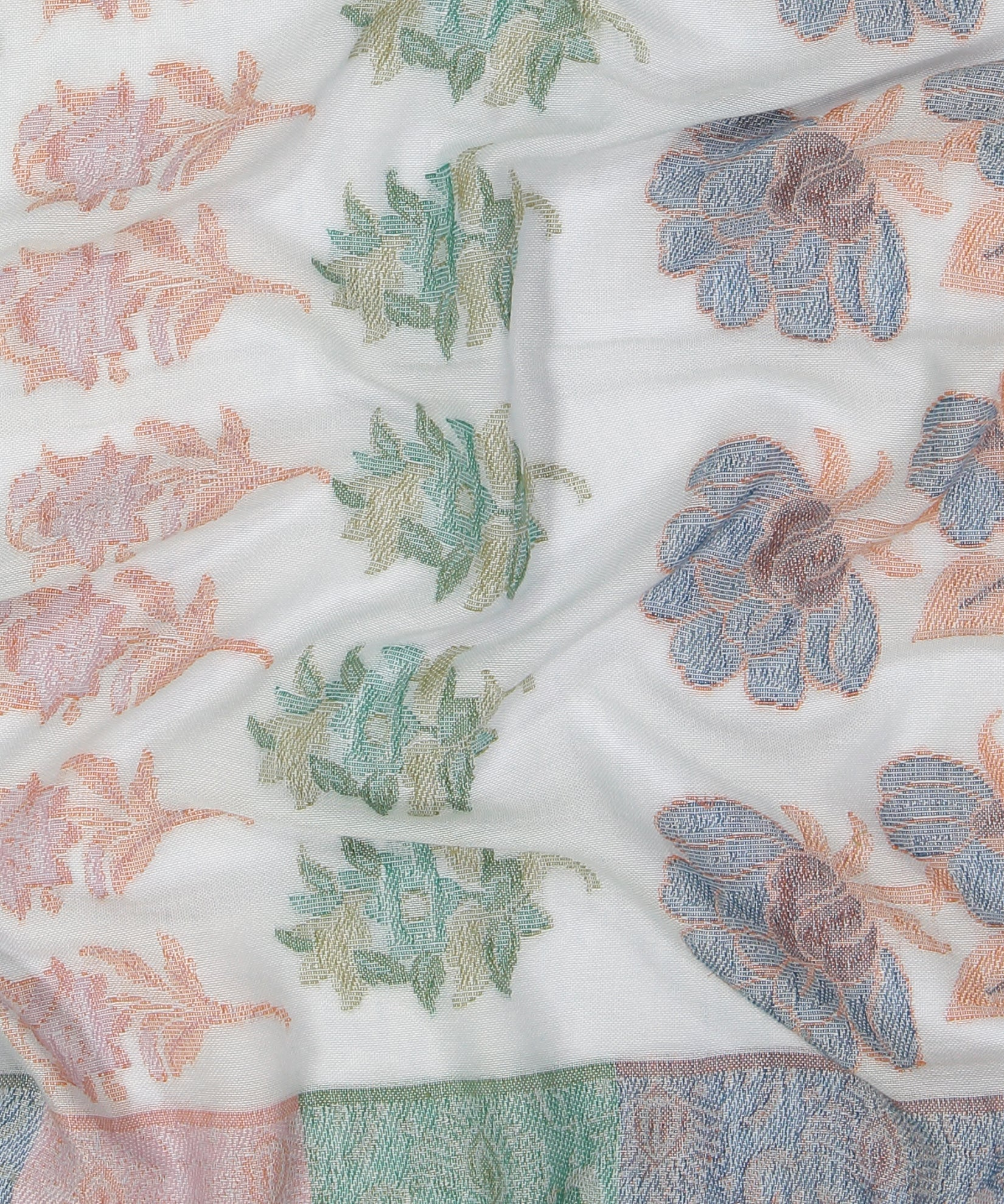 Goa Blue - Lotus Floral Cutback Oblong