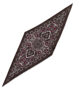 Pickled Beet - Ornate Paisley Silk Diamond