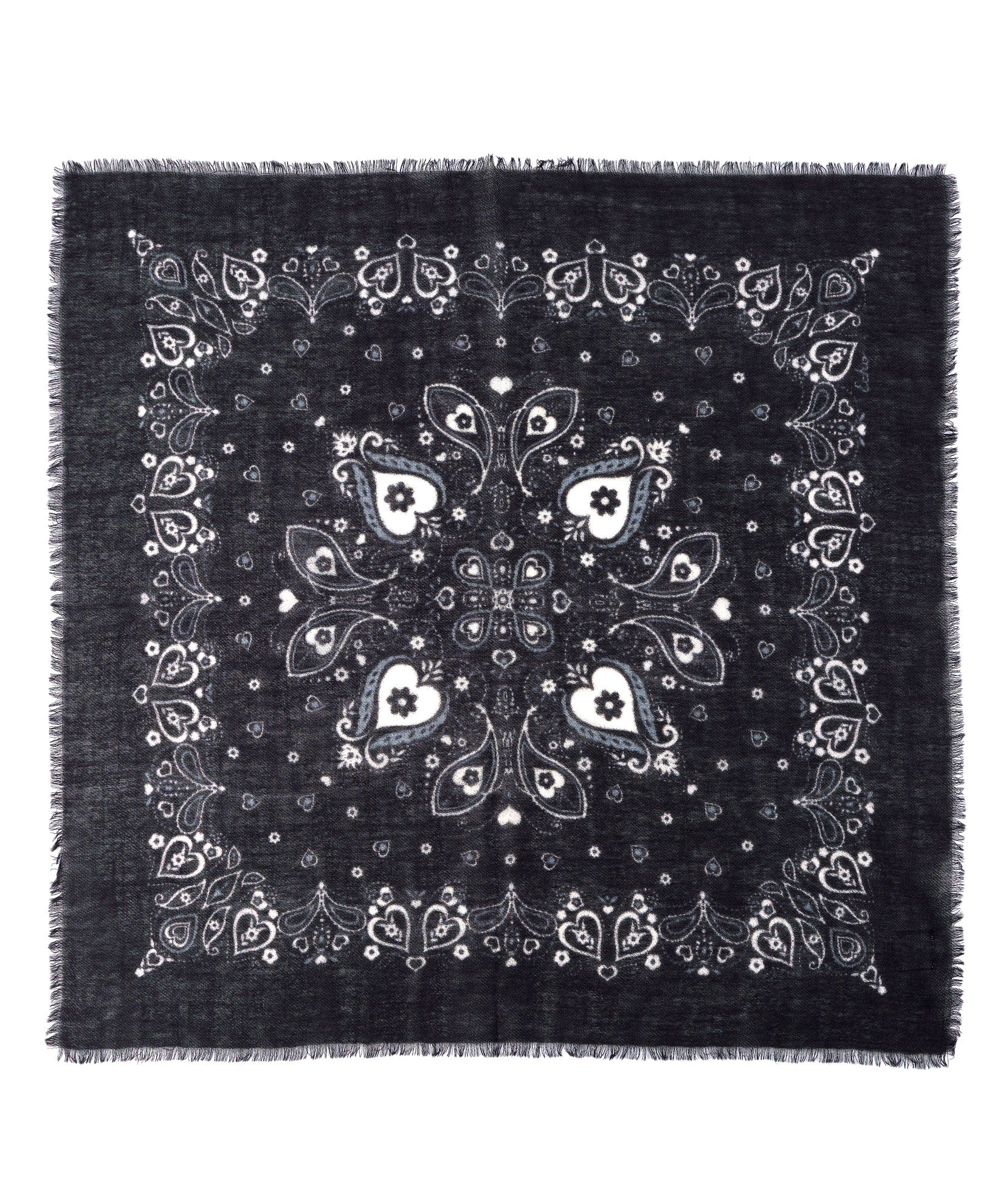 Black - Heart Bandana