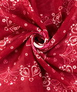 Ruby Red - Heart Bandana