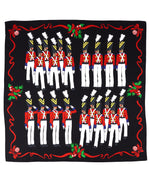 Black - Toy Soldier Silk Square